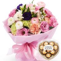 발렌타인데이 특가 꽃다발1번(초코렛 별도구매)